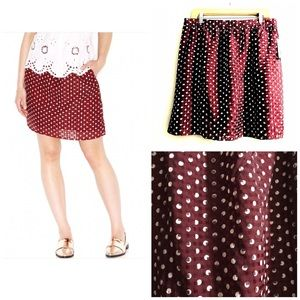 Maison Jules NWT Lightweight Lined Skirt Polka Dot